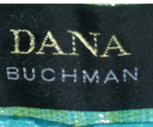 Dana Buchman Trouser Pants Terquois & gold canvas look.