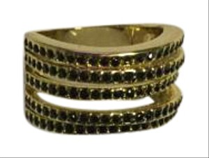 Other Gold Plated Ring With 5 Rows ~ Size 7 ~ New ~ $20