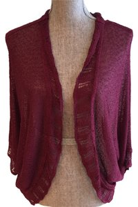 Knit Cardigan Size Small Shaw Top Plum