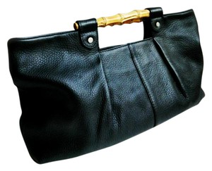 Other Bamboo Made In Italy Large Bamboo Handles black Clutch