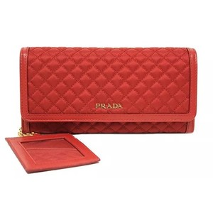 Prada Quilted Tessuto And Leather