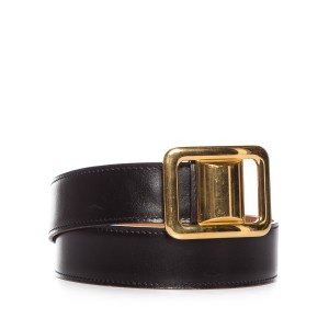 Hermès Hermes Black & Tan Reversible Belt