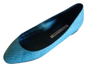 Manolo Blahnik Manolo Sexandthecity Ballet Python turquoise!! Flats