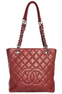 Chanel Tote in Oxblood