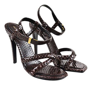 Cline Celine Dark Snakeskin Gray Sandals