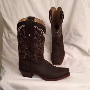 Tony Lama Vf6007 Brown Orange Ivory Boots