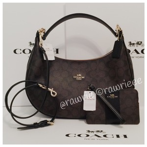 Coach Monogram Slouchy Hobo Cross Body Bag