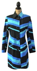 Vesti Bold Stripe Cotton Longsleeve Woven Multicolored Multi black blue Blazer