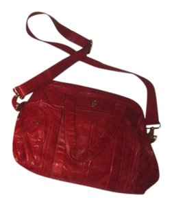 Tory Burch Tevin Collection Leather Satchel in Red