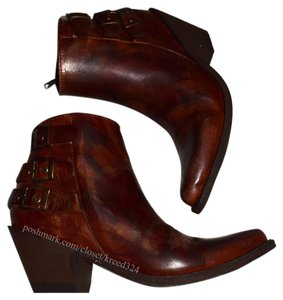 Old Gringo Cowboy Distressed Barnished Buckles Yippee Ki Yay Brown Multi Boots