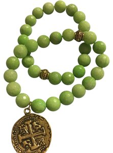 Mad Jewels Green Christos Stacking Bracelets