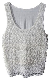 J.Crew Lace Top cream