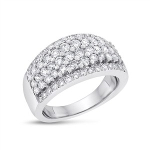 Other 1.75 CT Natural Diamond Elegant Fashion Ring in Solid 14k White Gold