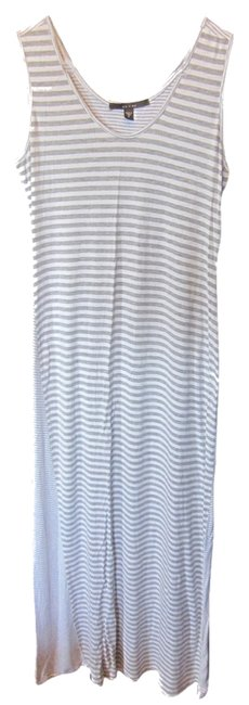 Gray and white Maxi Dress by Fever Maxi Summer