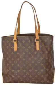 Louis Vuitton Tote Handbag Cabas Mezzo Shoulder Bag
