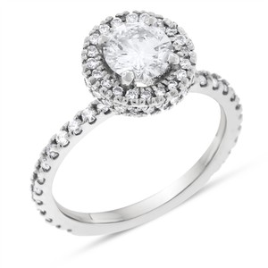 Other 1.60 Carat Natural Diamond Detailed Halo Engagement Ring In Solid 14k