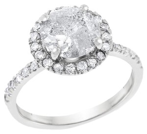 Other 2.42 Carat Natural Diamond Halo Engagement Ring In Solid 14k White
