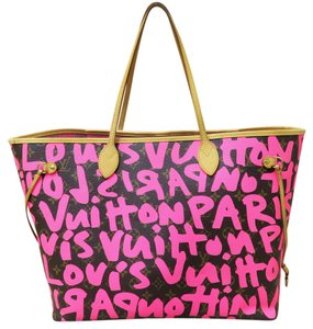 Louis Vuitton Lv Neverfull Mm Graffiti Canvas Shoulder Bag