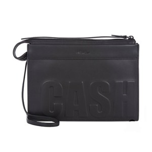 3.1 Phillip Lim Luxury Leather Minimalist Black Clutch