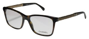 Chanel NEW Chanel CH 3302 Brown Gold Chain Link Optical Eyeglasses Frames