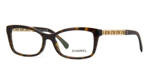 Chanel NEW CHANEL Chain Collection CH3264Q Brown Gold Leather