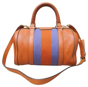Gucci Boston Leather Satchel in orange