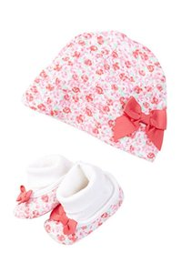 Kate Spade Kate Spade New York Cap & Bootie Gift Set (Baby Girls)