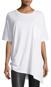 Rag & Bone Asymmetric Tee Satin Pima T Shirt White