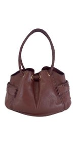 Cole Haan Cinched Auburn Leather Leather Shoulder Bag