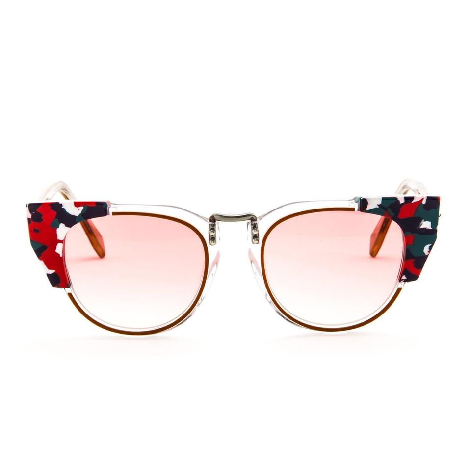 50a81d902e98 Fendi Pink Red Cat Eye Pink Red Marble 0074 Sunglasses - Tradesy