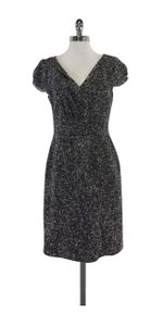 David Meister short dress Black White Tweed on Tradesy