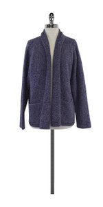 Eileen Fisher Purple Wool Cardigan