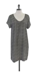 Joie short dress Grey & White Print Silk Short Sleeve on Tradesy