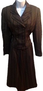 legina brown skirt suit