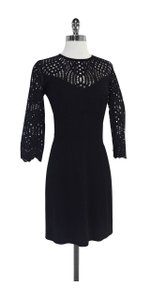 Just Cavalli short dress Black Lace Long Sleeve on Tradesy