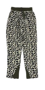 Sea Leopard Print Silk Pants