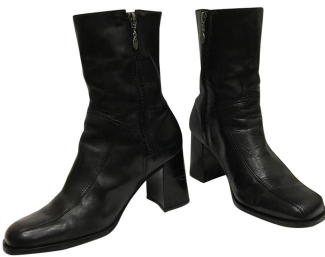 Item - Black Women's 61740 High Heel Leather Mid Calf Ankle Boots/Booties Size US 9.5 Regular (M, B)