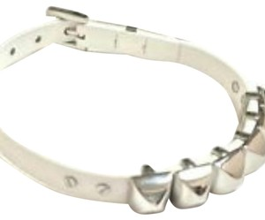 Michael Kors White leather stud bracelet
