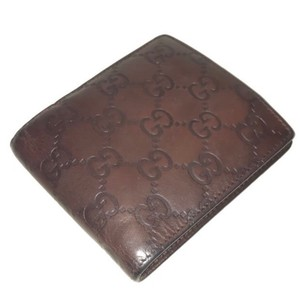 Gucci Authentic Gucci Brown Guccissima GG Leather Wallet