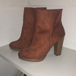 Charlotte Russe Suede Spring Camel New Tan Boots