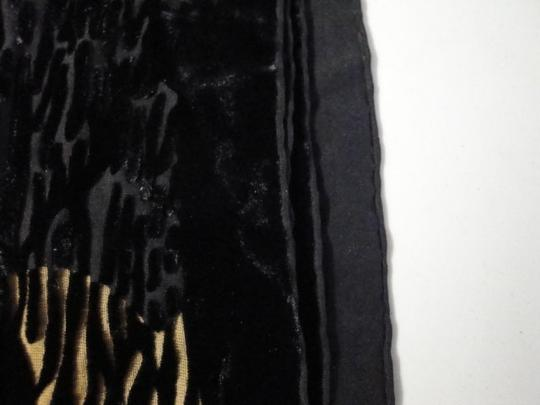 Other Womens Vintage Butterfly Butterflies Gold Black Burn Out Velvet Long Scarf