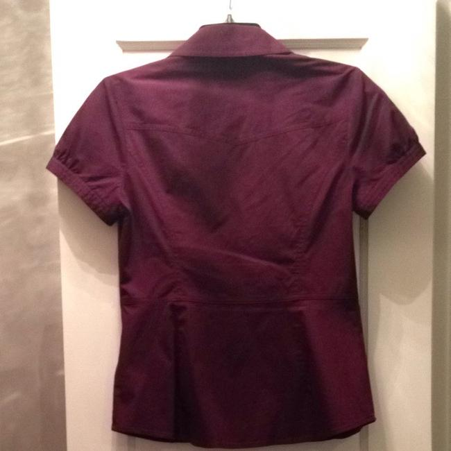 Express Button Down Shirt Burgandy