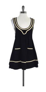 Catherine Holstein short dress Black Cream Wool Sailor on Tradesy