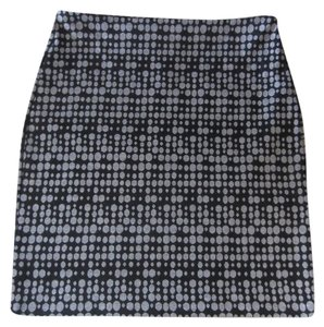 Ann Taylor LOFT Office Dots Skirt Black and grey