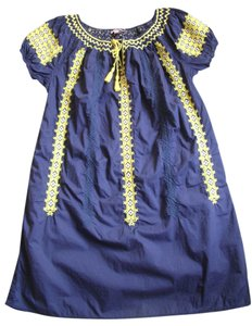Calypso St. Barth short dress Blue Yellow White on Tradesy