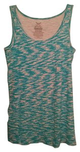 Faded Glory Top Bright Teal & white