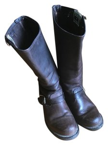 Frye Leather Engineer Brown Boots