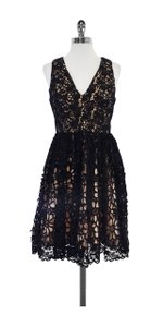 French Connection short dress Black Nude Lace on Tradesy