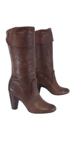 Frye Brown Leather Bethany Cuff Shortie Boots