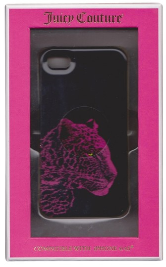 Juicy Couture Juicy Couture Hardshell Black Pink Snow Leopard iPhone 4/4S